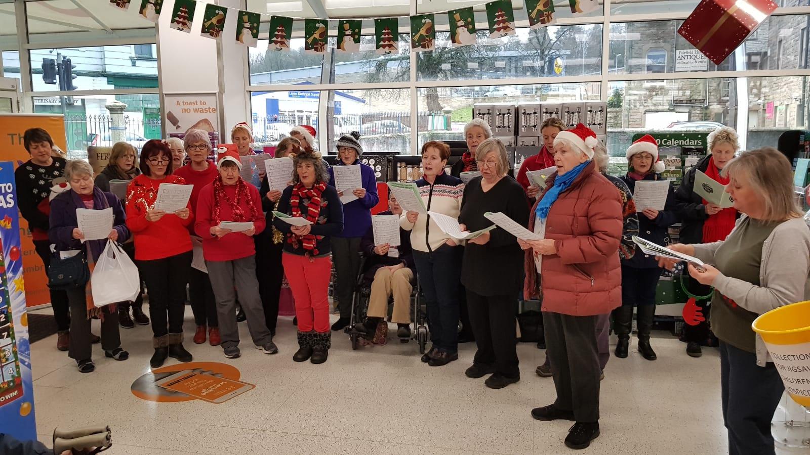 Carol Singing at Sainsbury's 2019